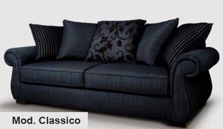 Divano classico divano classico su misura - Rivestimento divano costo ...